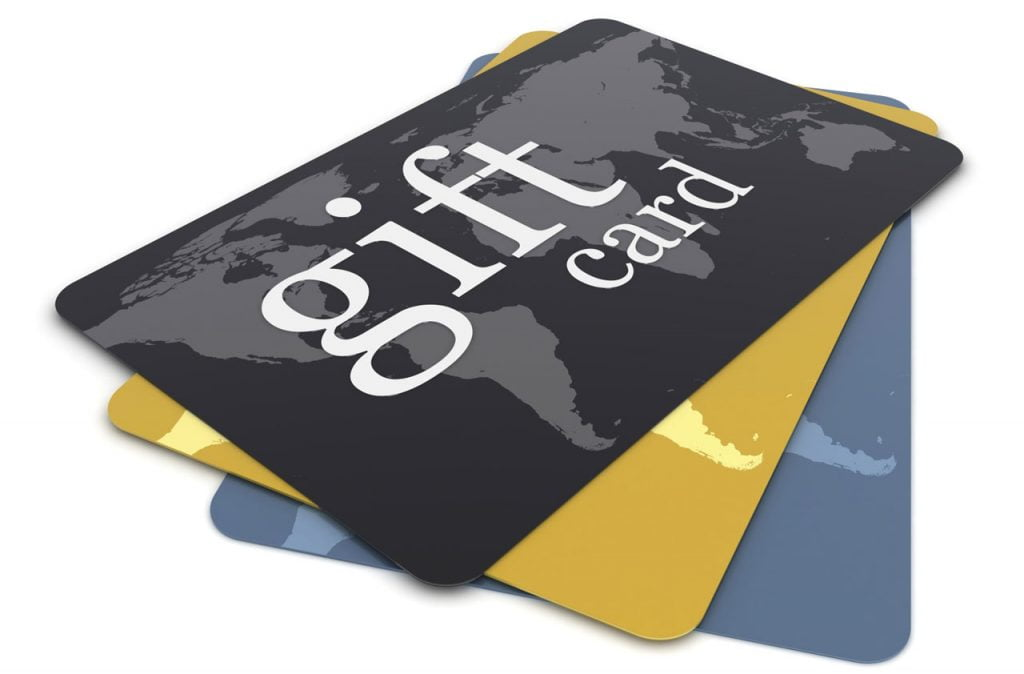 giftef cards
